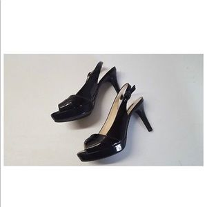 60e72a882b3c Alex Marie Peep Toe Slingback Platform Heels Sz 8